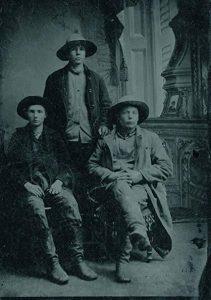 Tre cowboy, 1870