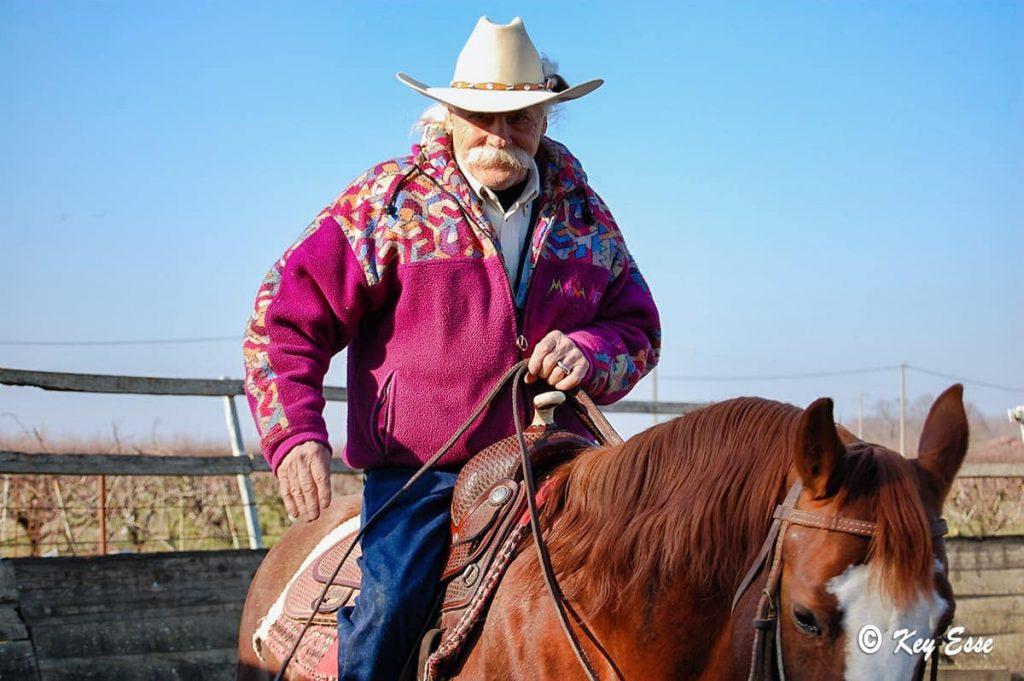 Mario Raspanti a cavallo