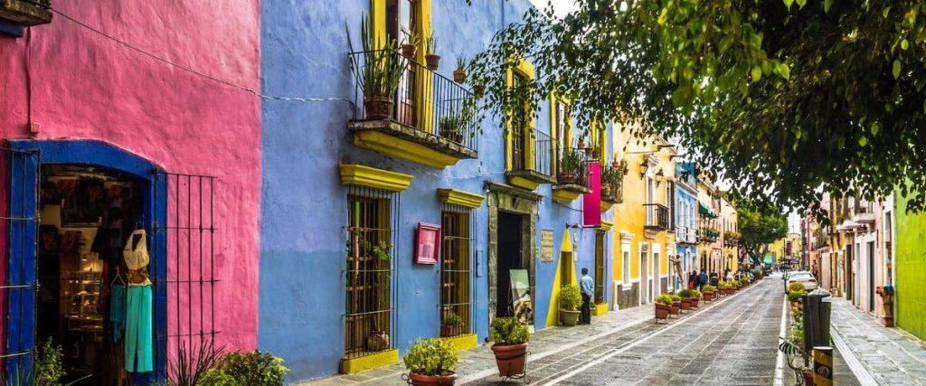La città di Puebla in Messico