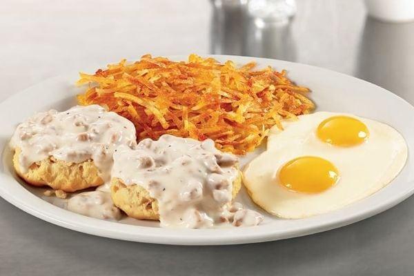 Western Heritage biscuit gravy breakfast