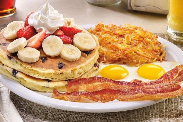 Western Heritage double berry banana pancake breakfast