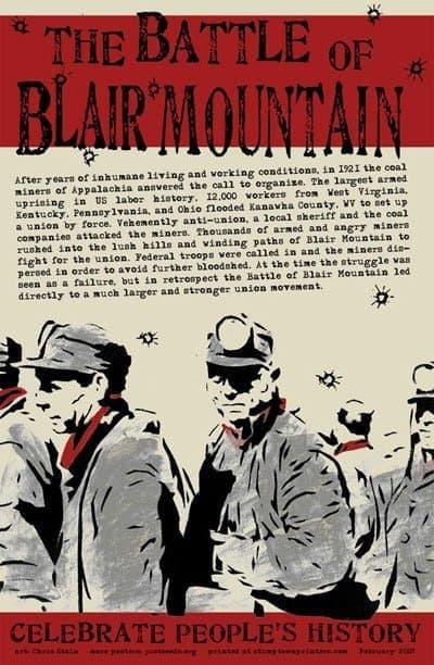 poster battle of blair mountain
