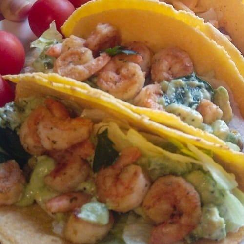 western heritage tacos gamberi avocado