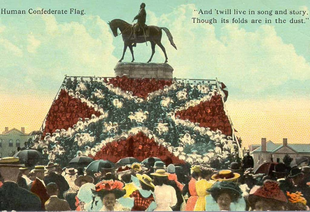 Western Heritage Human confederate flag