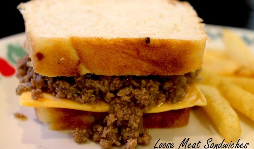 Loose meat sandwiches