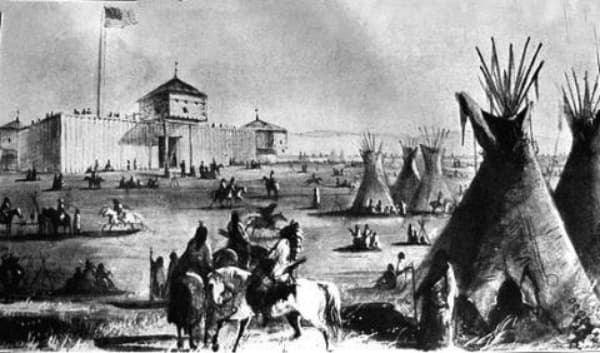 Western Heritage fort laramie 1827 alfred jacob miller