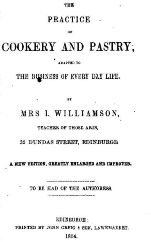 western heritage Willamson cookery pastery
