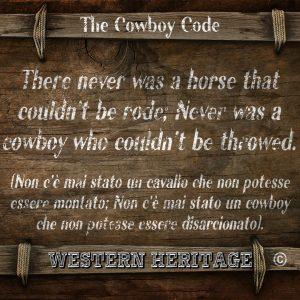 The cowboy Code #15